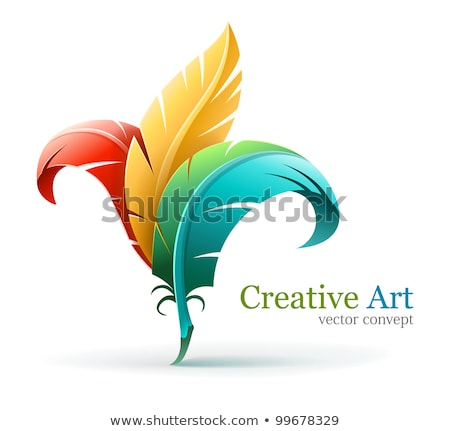 creative art concept with color feathers stock photo © loopall