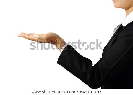 businesswoman with open palm stock photo © stryjek
