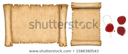 Scroll papier zegel wax helling Stockfoto © Winner