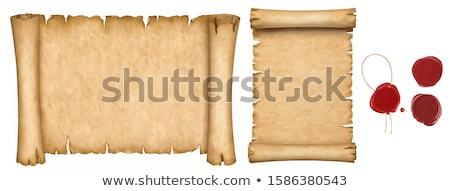 tekercs · papír · retro · tekert · öreg · fa · asztal - stock fotó © winner