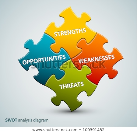 vector swot illustration made from puzzle pieces stock photo © orson