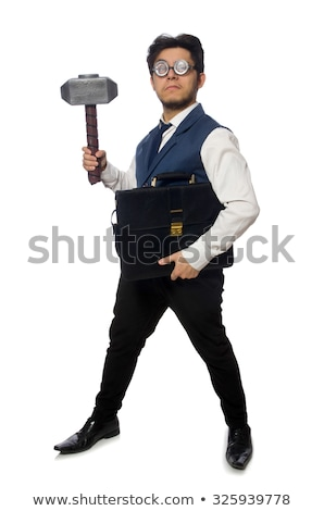 angry businessman holding a hammer Stock photo © photography33