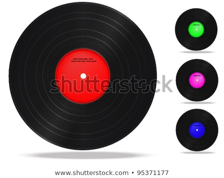 Vinyl record plate with treble clef Stock photo © m_pavlov