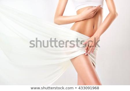 excesso · de · peso · mulher · medir · em · roupa · interior · corpo - foto stock © nobilior