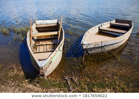two empty boat on the shore stock photo © justinb