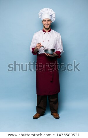ショット · ハンサム · 笑みを浮かべて · シェフ · 男性 - ストックフォト © stockyimages