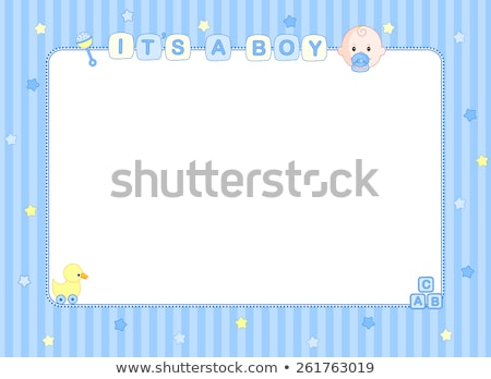 baby · jongen · aankondiging · kaart · kinderwagen · meisje - stockfoto © balasoiu