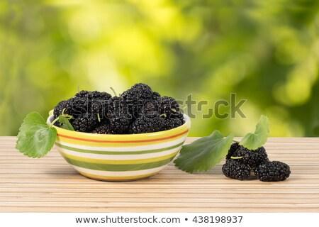 fresh organic black mulberry stock photo © kuzeytac