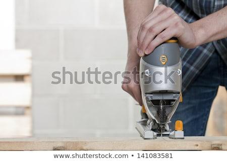男 · ホーム · 作業 · 電源 · 白 - ストックフォト © photography33
