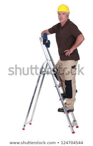 建設作業員 · はしご · 登山 · アップ · 空 · 建設 - ストックフォト © photography33