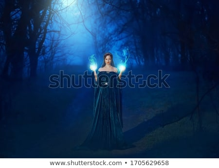 Scary Blue Lady Stock photo © LynneAlbright