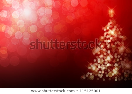 Abstract Sparkling Red Christmas Snowflake Background Stock photo © meikis