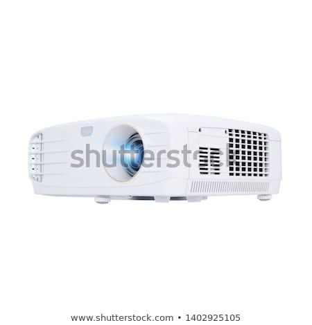 Multimédia projektor izolált fehér üzlet számítógép Stock fotó © ozaiachin