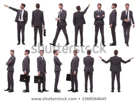 Empresário posando terno executivo financiar gerente Foto stock © photography33