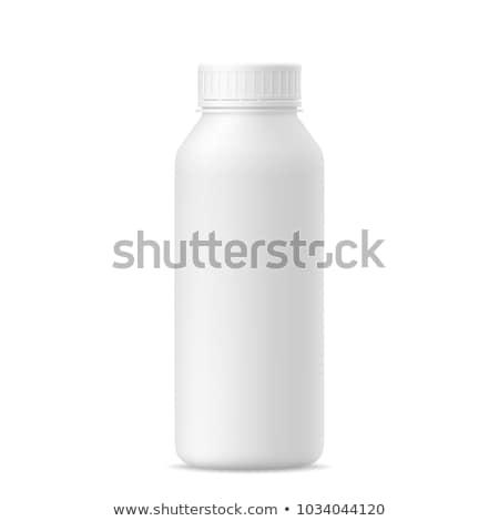 White plastic bottle for milk Stock photo © ozaiachin
