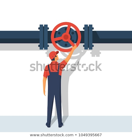 pijpleiding · ventiel · Rood · industriële · energie · kleur - stockfoto © goce