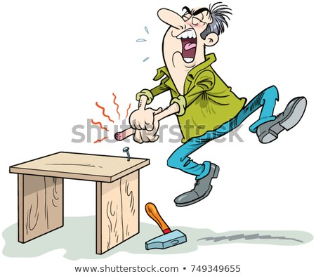 Injured man smashed by hammer Stock photo © photography33