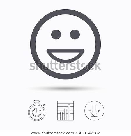 図 笑顔 手 デザイン 白 紙 ストックフォト © geppo2012