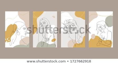 modell · szempilla · ékszerek · nő · divat · fiatal - stock fotó © carlodapino