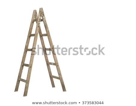 houten · ladder · vliering · licht · werk · home - stockfoto © ozaiachin