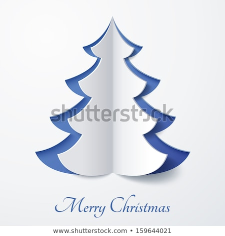 Simple vector paper christmas tree Stock photo © orson