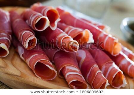 jambon · domates · sandviç · taze · sağlıklı - stok fotoğraf © neiromobile