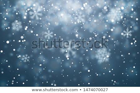 Frio nevasca jovem assistindo olho cara Foto stock © choreograph