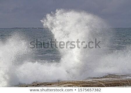 Noors kust kustlijn eilanden zomer landschap Stockfoto © Harlekino