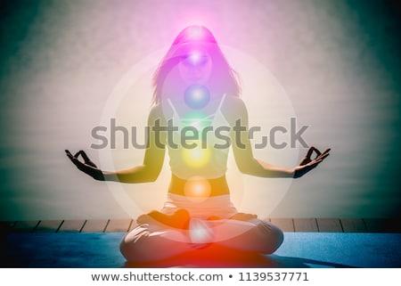 シルエット · 実例 · 女性 · 日没 · 7 - ストックフォト © adrenalina