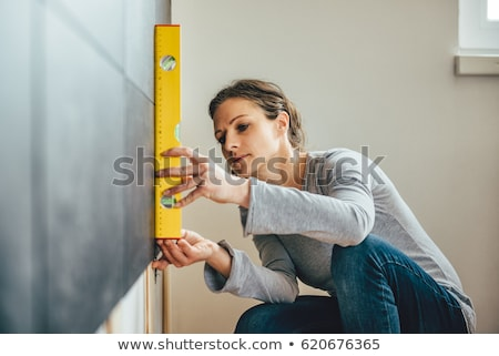 woman using a level stock photo © photography33