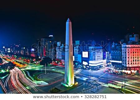 Buenos Aires éjszaka sziluett égbolt iroda épület Stock fotó © Spectral