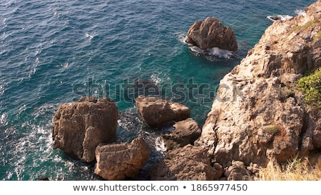 Rocks on the coast stock photo © azjoma