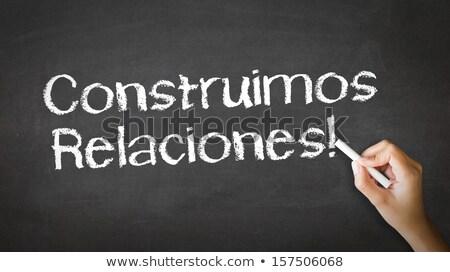 Сток-фото: построить · отношения · испанский · человек · рисунок · указывая