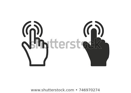 икона Touch деловой человек прикасаться иконки экране Сток-фото © matteobragaglio