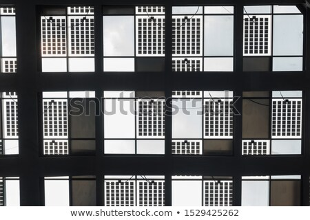 Dakraam metaal glas dak structuur Stockfoto © tuulijumala