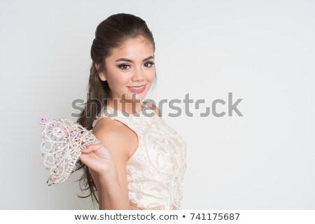 пром королева позируют вектора рисунок женщину Сток-фото © ArenaCreative
