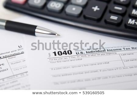 Renda imposto forma dinheiro lei tempo Foto stock © Gloszilla
