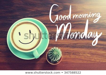 おはようございます · ヴィンテージ · 木材 · タイプ · ブロック - ストックフォト © maxmitzu