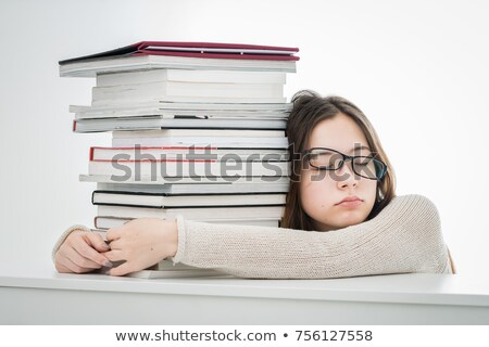 Child tired of studying Stock photo © photography33