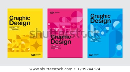Typografie ontwerp magenta business print retro Stockfoto © Allegro
