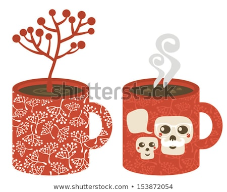cup with the smog of skulls stock photo © ekapanova
