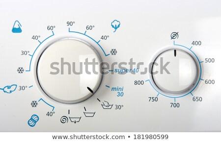 стиральная · машина · панель · управления · современных · таймер · опции - Сток-фото © abbphoto