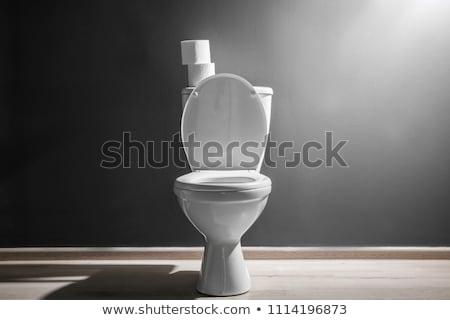 WC · ciotola · foto · bianco · bagno · nuovo - foto d'archivio © Marfot