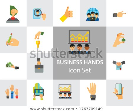 smartphone icon on multicolor puzzle stock photo © tashatuvango