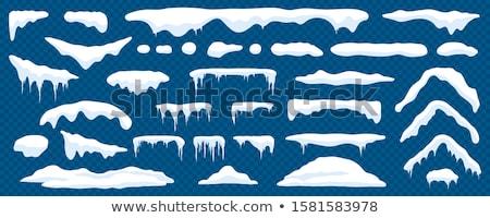 Buz saçağı numara pencere soğuk kış bahar Stok fotoğraf © 3pphoto31