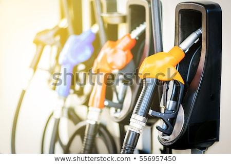 színes · üzemanyag · három · pumpa · benzinkút · kék - stock fotó © neirfy