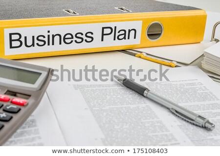 Geel · map · 3d · render · business · oranje · witte - stockfoto © zerbor