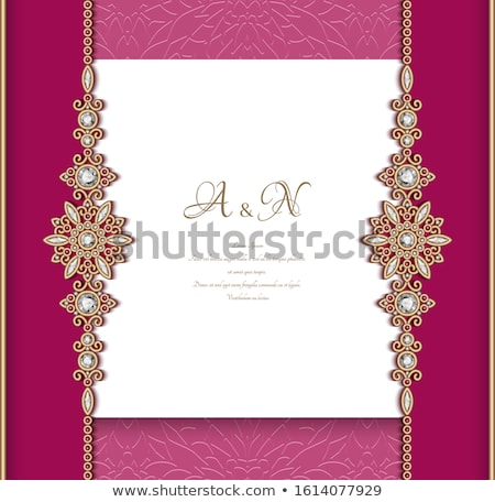 red background with precious stones for invitations Stock photo © yurkina