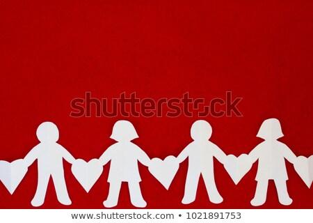 rojo · bloqueo · corazón · aislado · blanco · boda - foto stock © dengess
