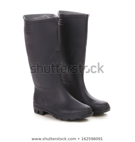 Black rubber boots isolated on white Stock photo © shutswis